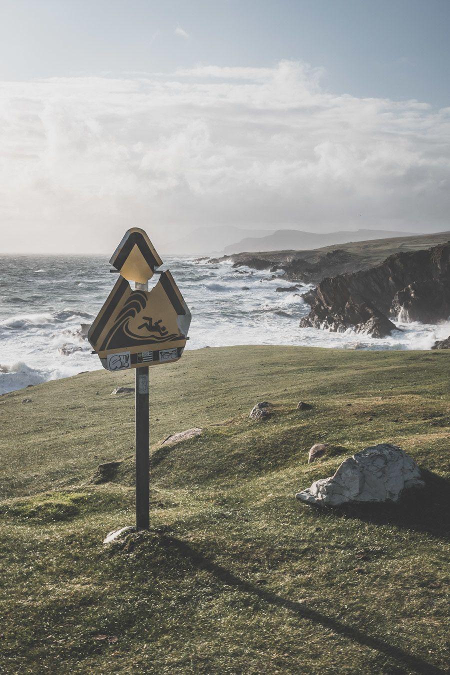 mer agitée en irlande