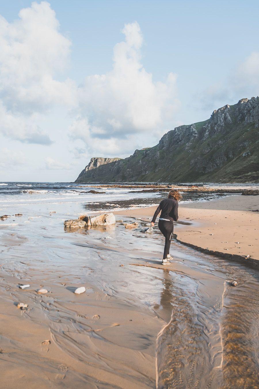 Courir sur le sable en Irlande