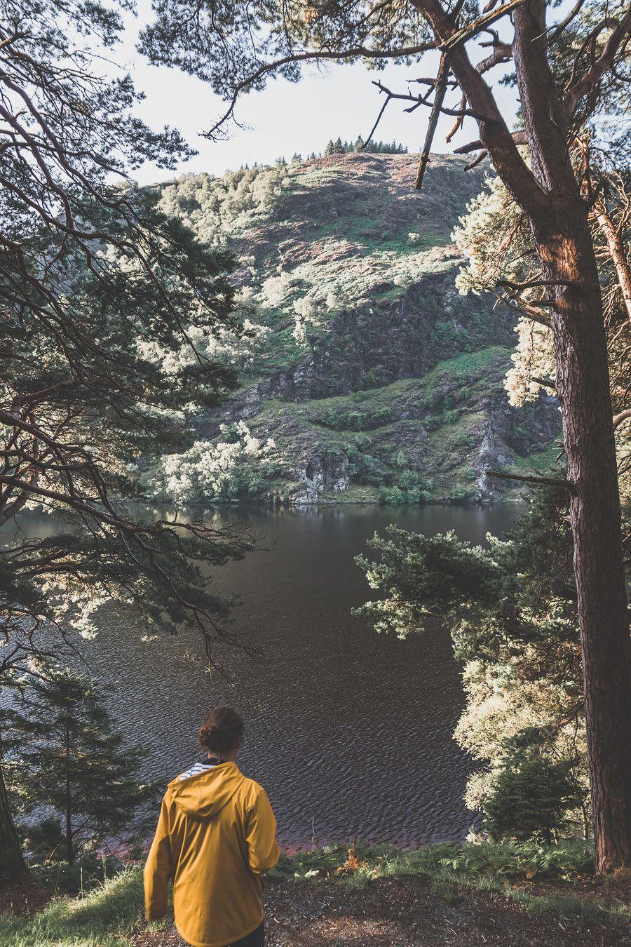 Upper lake dans les Wicklow moutains