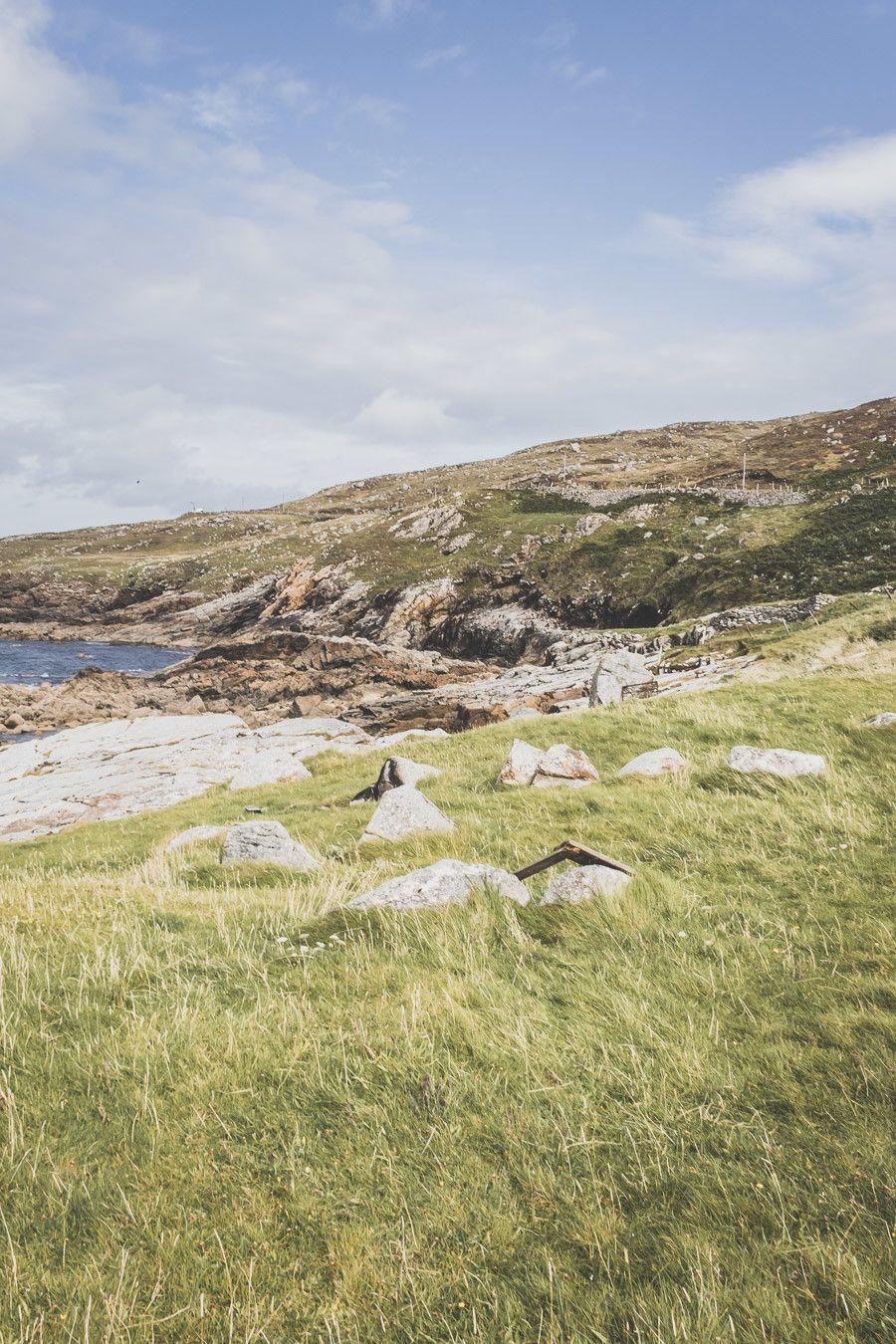 irlande - mer et herbe verdoyante