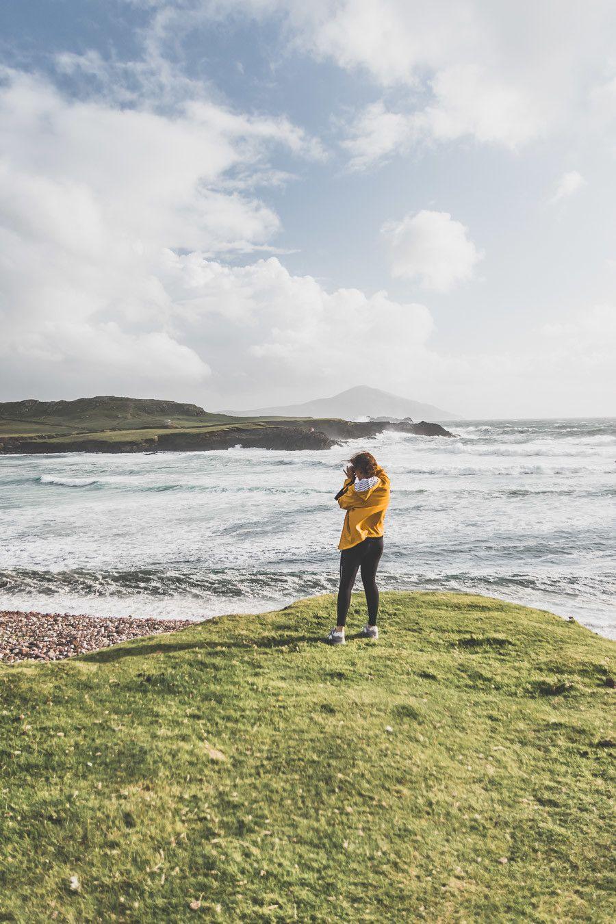 Paysage magnifique sur l'île d'Achill Islande