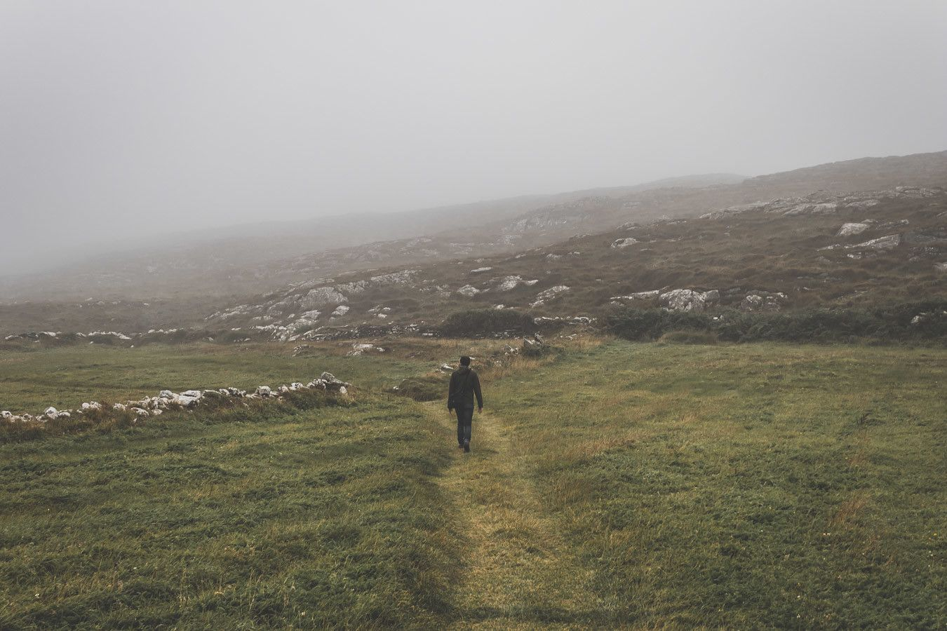paysages brumeux irlandais