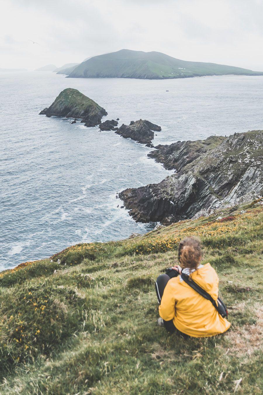 Vue sur Skellig Island depuis Dunmore Head dans le Kerry