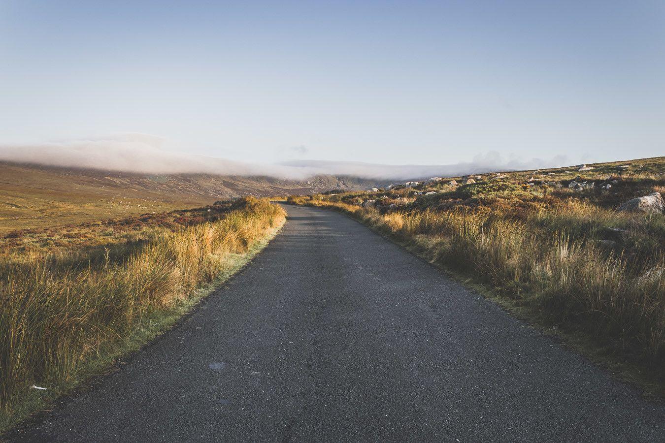 photo de route en irlande