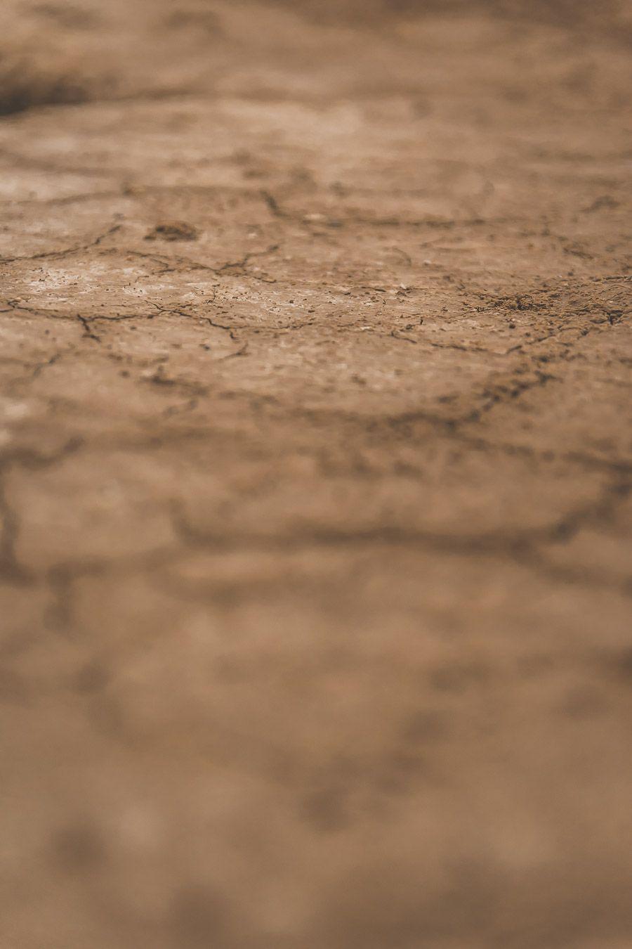 le sol du désert des Bardenas Reales