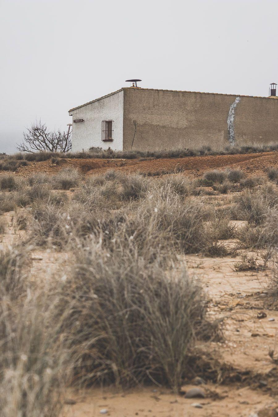 cabane abandonnée dans le désert des Bardenas