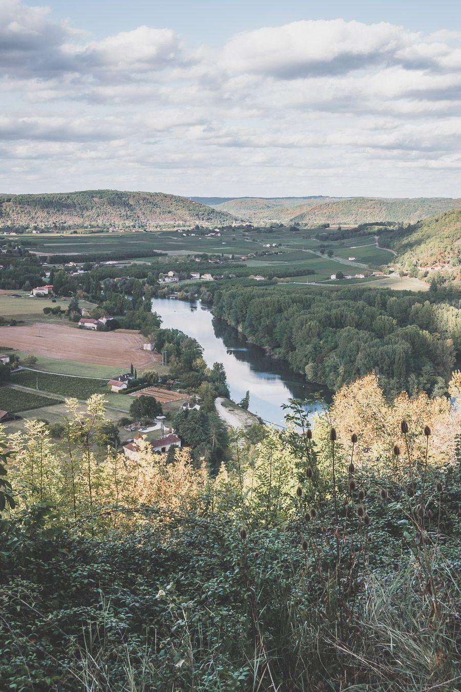 vue sur la vallée du Lot