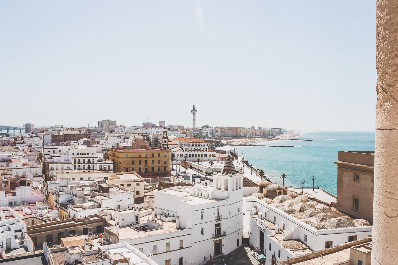 Ville de Cadix en Andalousie