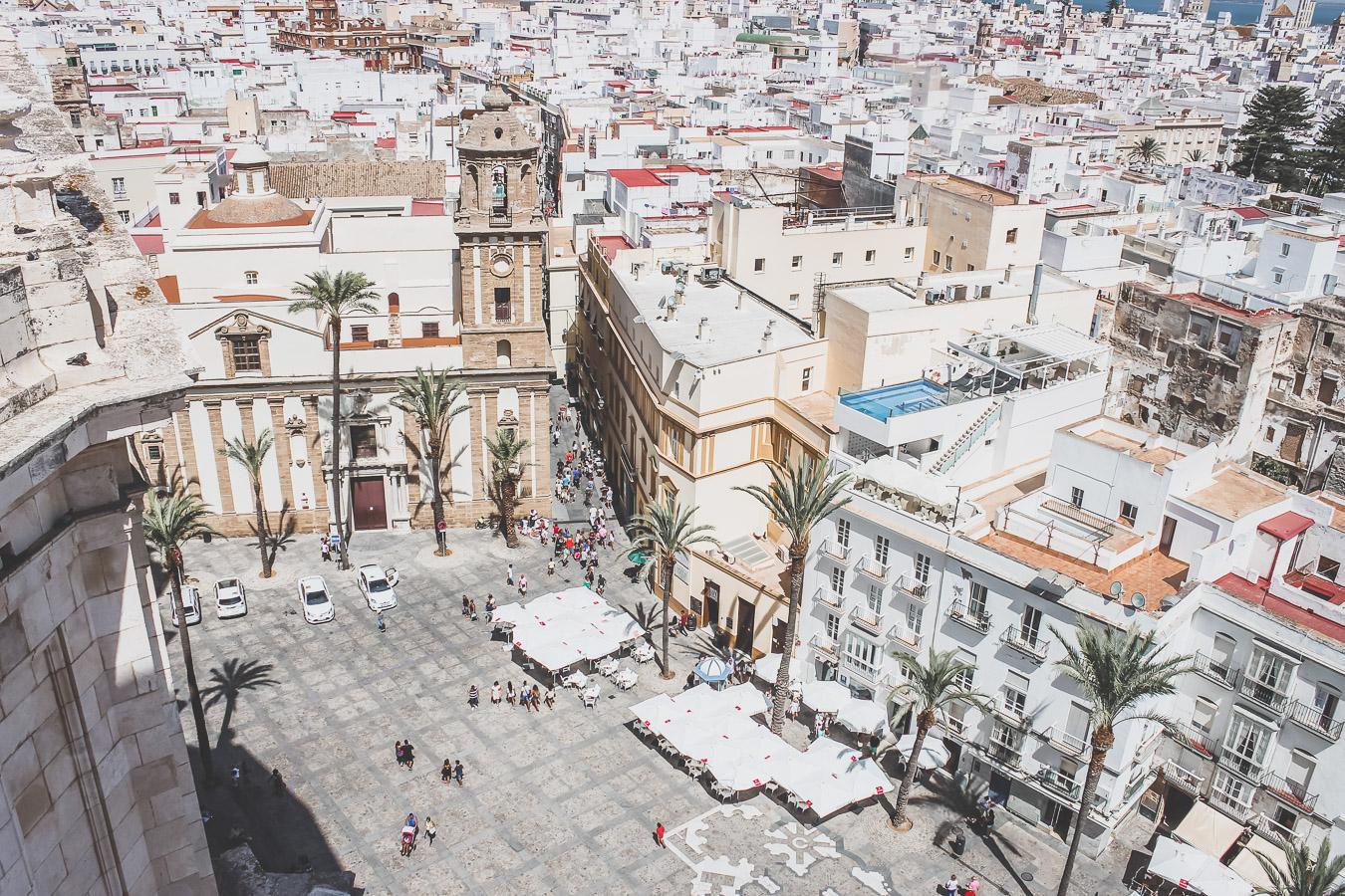 vue sur Cadix depuis la cathédrale