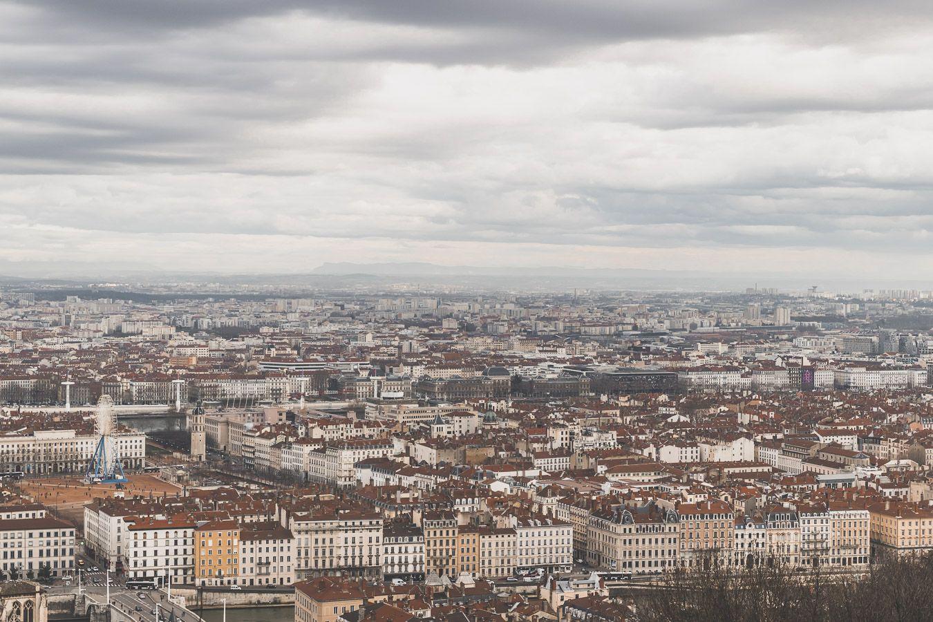 Vue sur Lyon depuis Notre-Dame-de-Fourvière