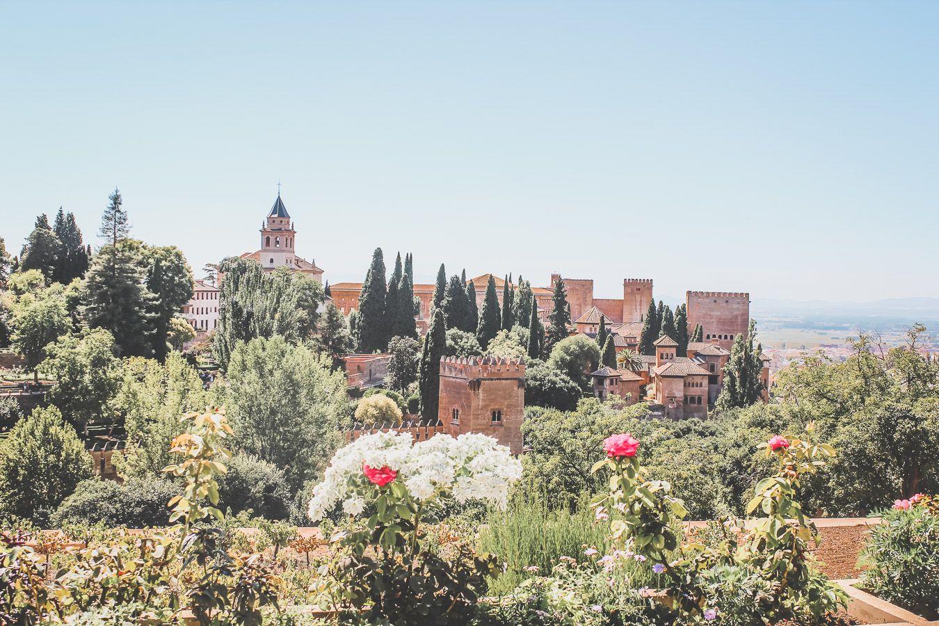 l'Alhambra de Grenade en Espagne
