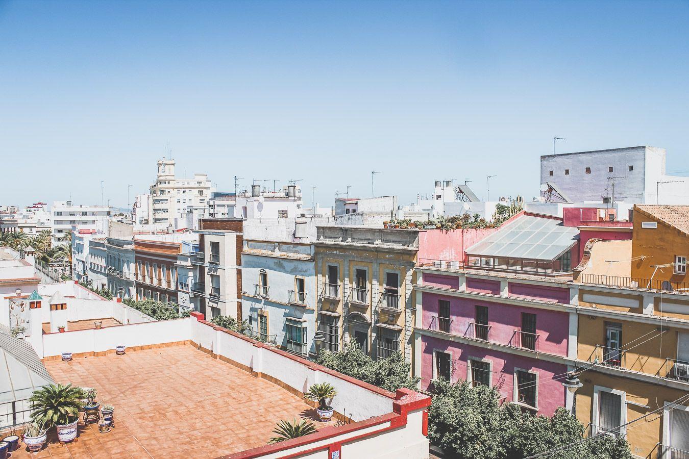 Vue sur les toits de Jerez