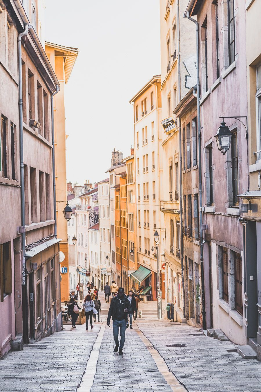 Le quartier de la Croix-Rousse à Lyon