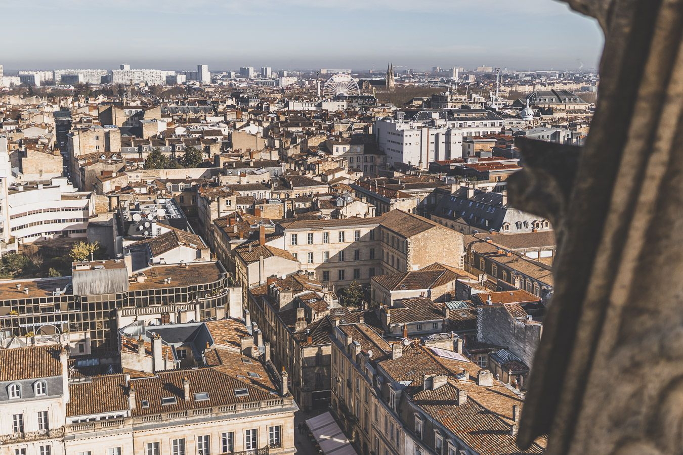vue sur Bordeaux depuis la tour Pey Berland