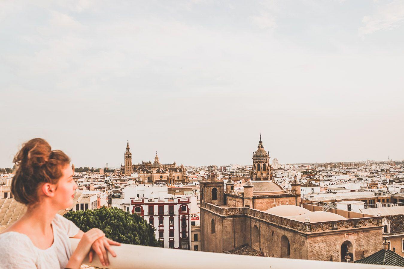 Vue sur Séville depuis le Metropol Parasol
