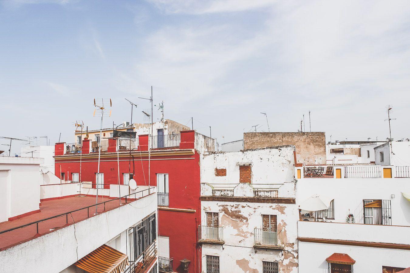 Vue depuis les toits à Séville