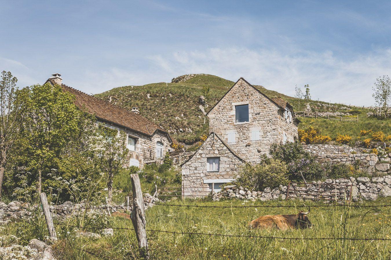 Village de Marchastel, Lozère.