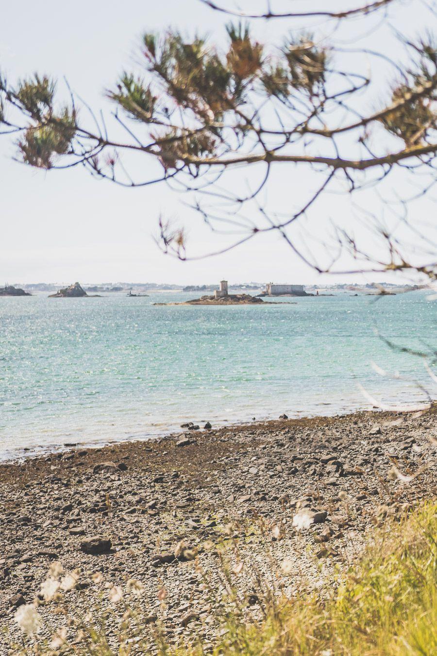 Ile noire et île blanche dans la Baie de Morlaix