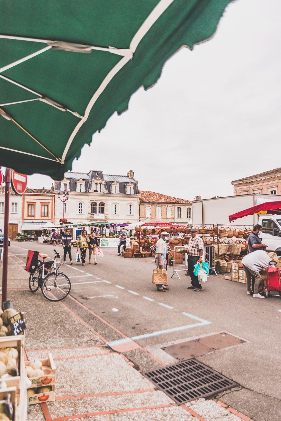 Marché de l'Isle-Jourdain dans le Gers