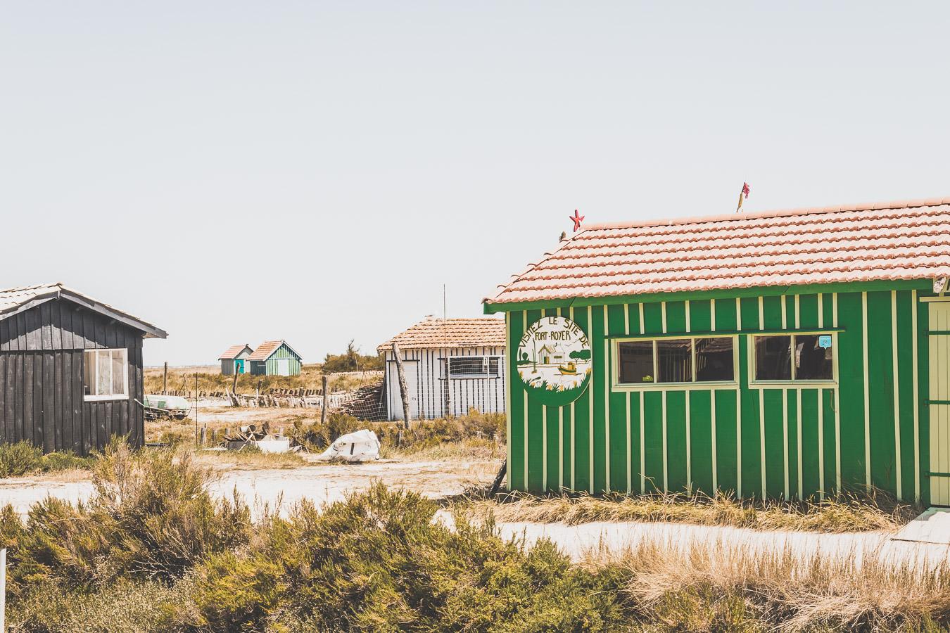 Cabanes ostréicoles sur l'île d'Oléron