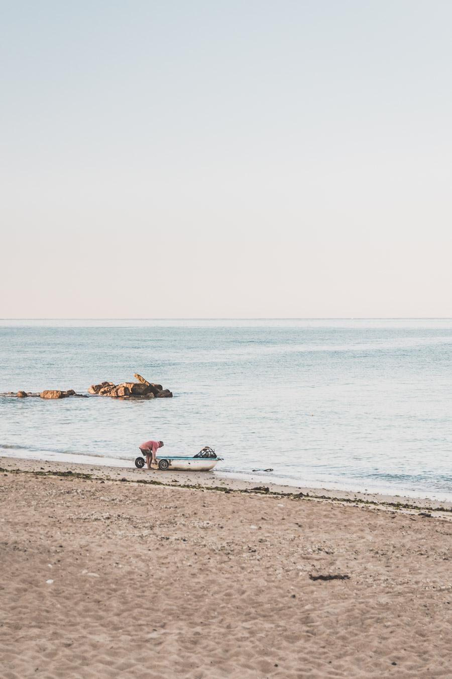 pêcheur sur l'île d'Oléron